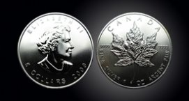 1 oz. Silver Canadian Maple Leaf