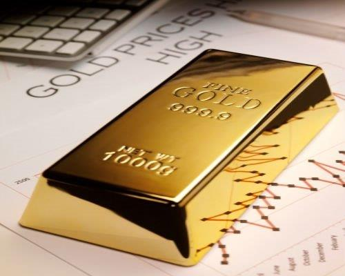 gold bar with chart